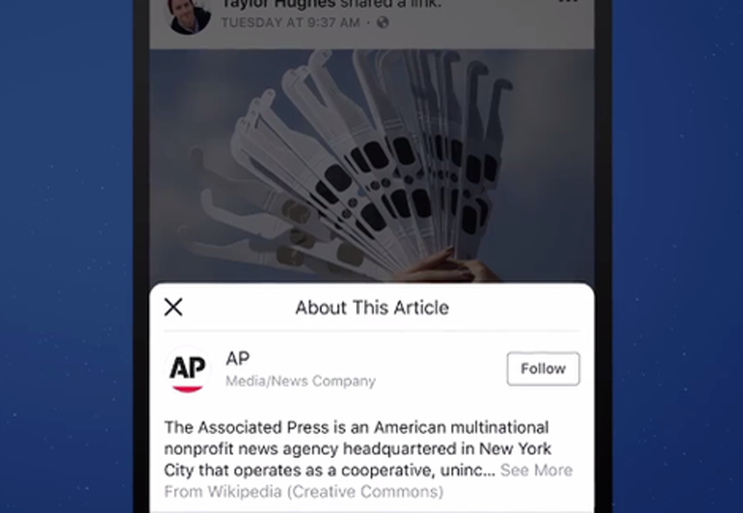 Facebook prueba botón en noticias para conocer otras fuentes