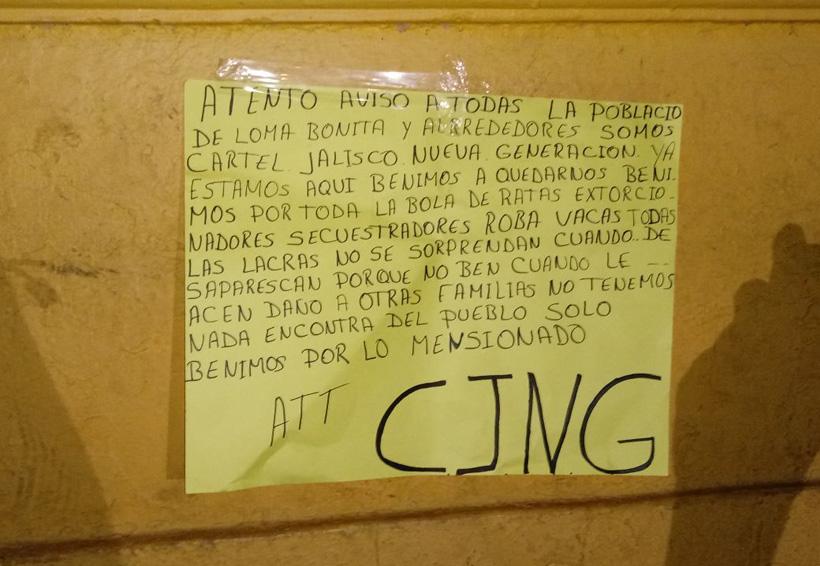 Dejan seis cuerpos en Loma Bonita, en los límites con Veracruz