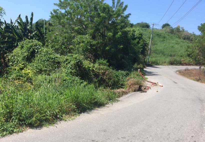 Carretera a Collantes, en pésimas condiciones