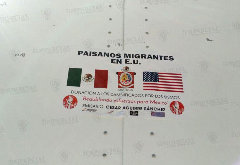 Paisanos de EU llevan víveres a la Mixteca para afectados por sismo del 19-S | El Imparcial de Oaxaca