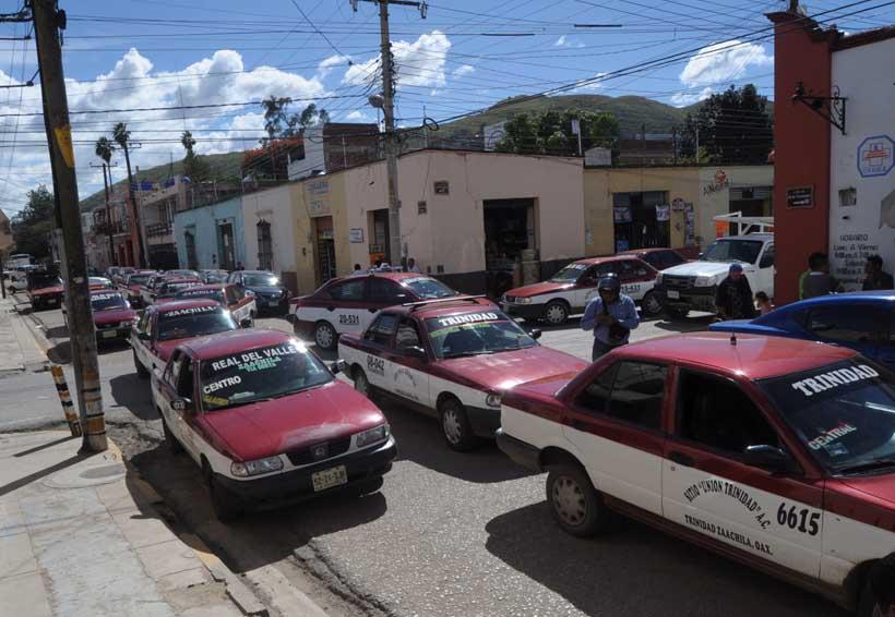 Incertidumbre entre taxistas de Oaxaca ante el aumento de la  delincuencia