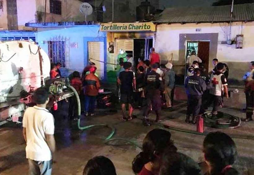 Se incendia tortillería | El Imparcial de Oaxaca