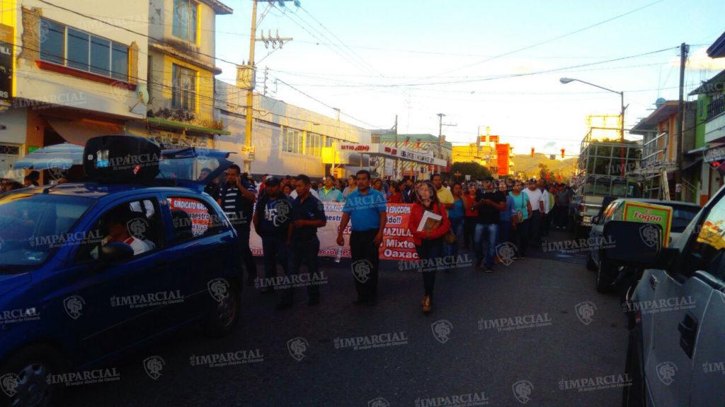 Marcha Sección XXII en Huajuapan | El Imparcial de Oaxaca