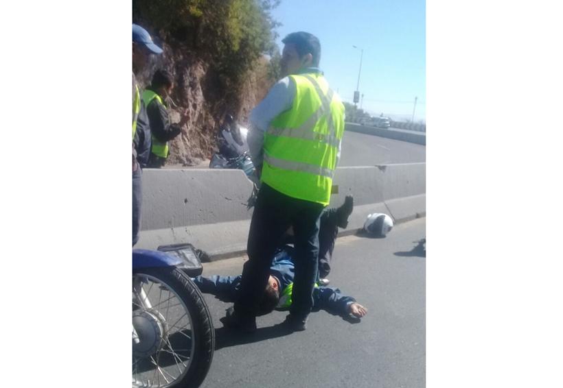 Derrapa motociclista a exceso de velocidad en El Fortín | El Imparcial de Oaxaca
