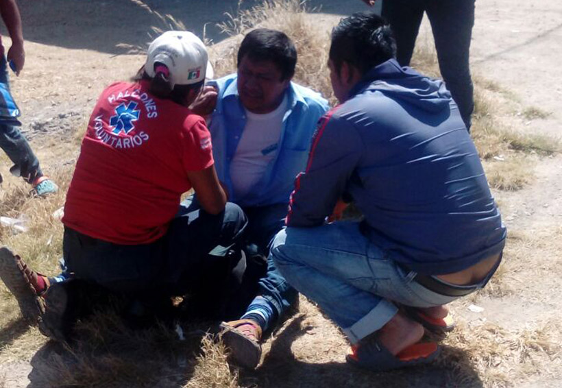 Motociclista derrapa en Santo Domingo Etla, Oaxaca | El Imparcial de Oaxaca