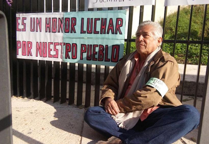 Expresidente de Juchitán se  instala en huelga de hambre