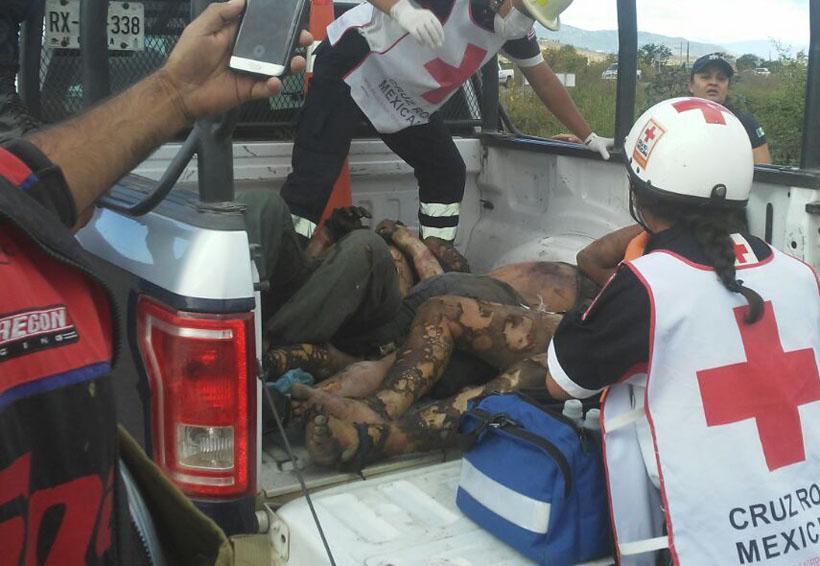 Queman a ladrones en Macuilxóchilt, policía los rescata