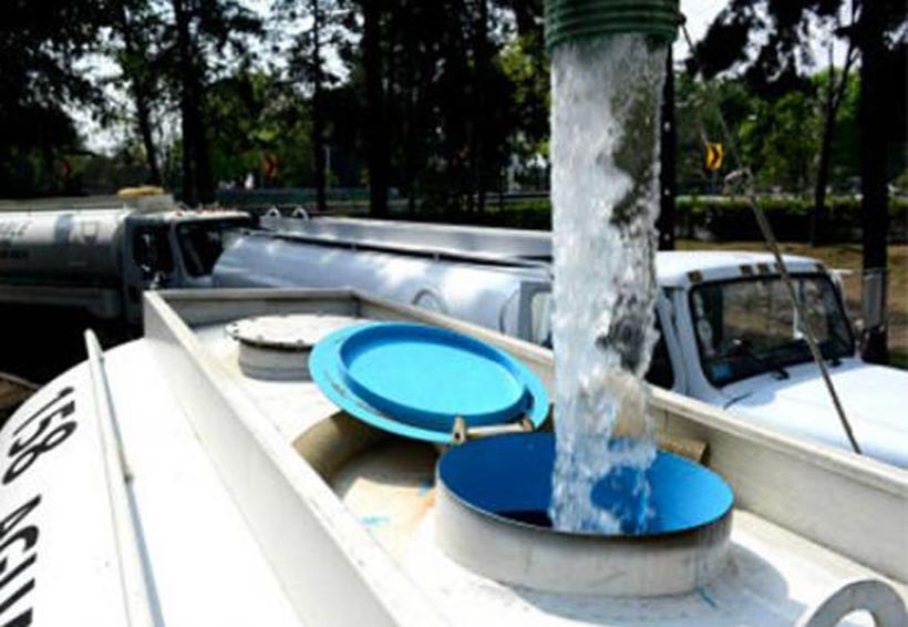 Verifica pipas de agua y  pozos de abastecimiento en Oaxaca