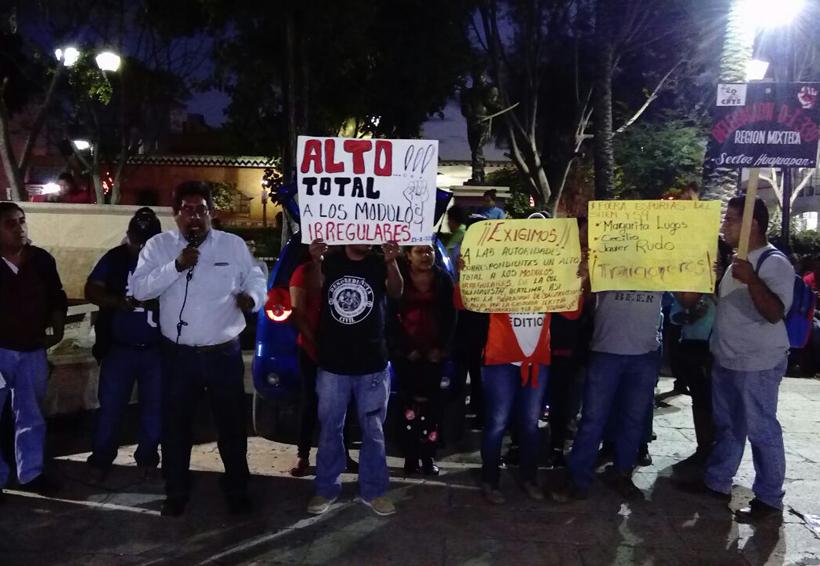 """Piden a gobierno de Huajuapan  """"sacar las manos de los módulos"""""""