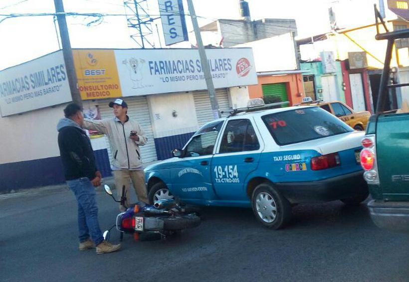 Colisiona taxi contra una moto en Oaxaca | El Imparcial de Oaxaca
