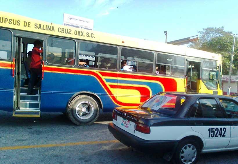 En aumento, los robos en el  transporte público de Salina Cruz, Oaxaca