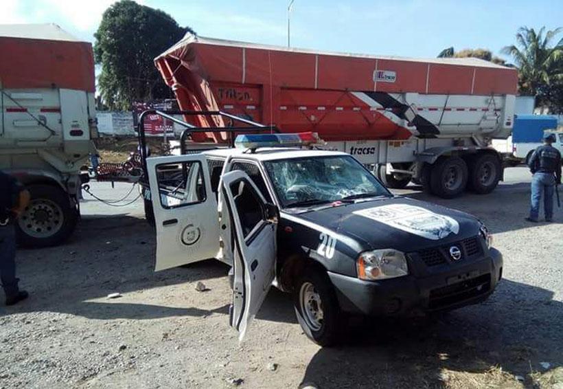 Manifestación se sale de control; machetean a policías municipales de Matías Romero, Oaxaca