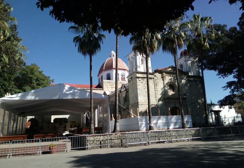 Restringen permisos a puestos en el templo de la Virgen de Guadalupe en Oaxaca