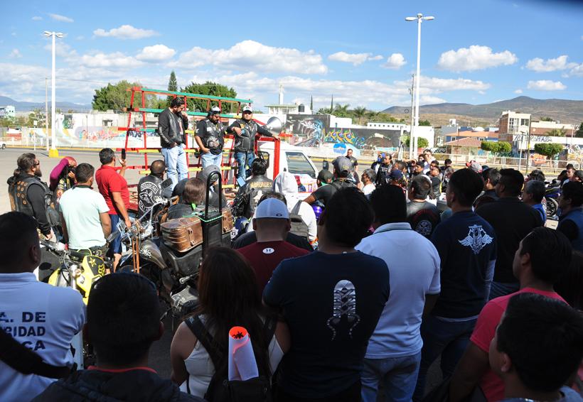 Rodada contra altas cuotas para regularizar motos en Oaxaca