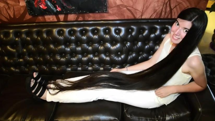 Así es la 'Rapunzel argentina' con el Guinness al cabello más largo del mundo | El Imparcial de Oaxaca