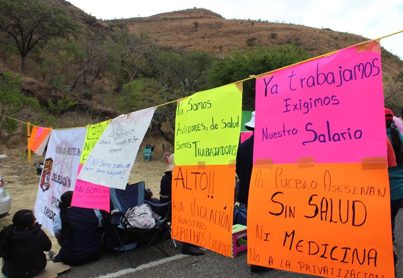 Arrecia el SNTSA  protestas en la Mixteca de Oaxaca