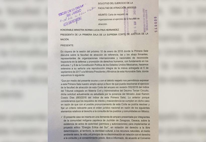 Saludan ONG atracción de caso Juchitán, Oaxaca | El Imparcial de Oaxaca