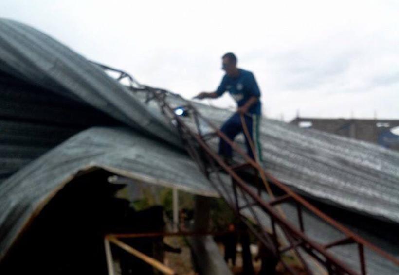 Frente frío 25 causa  daños en Tlaxiaco, Oaxaca