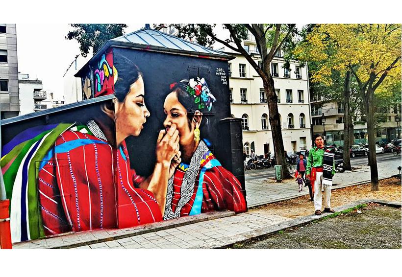 Joel Merino, el artista triqui que con sus murales conquistó Europa