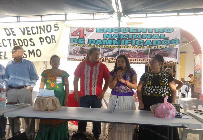 Realizan Encuentro  Nacional de Damnificados por los sismos   El Imparcial de Oaxaca