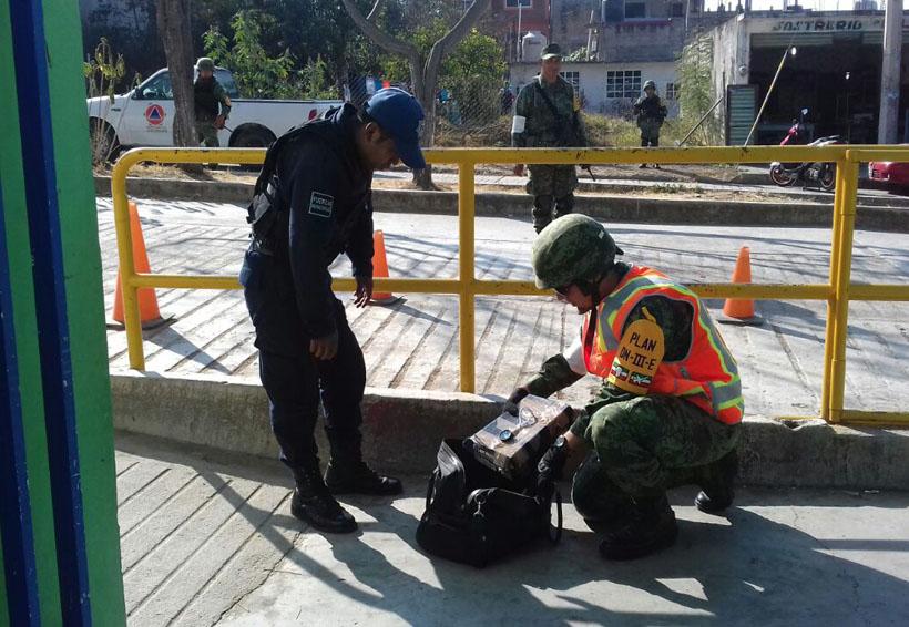 Realizan simulacro de bomba en  escuela de Santiago Juxtlahuaca, Oaxaca | El Imparcial de Oaxaca