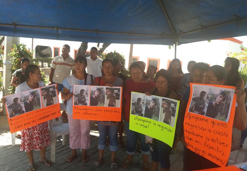 En Video:  Familiares de pescadores extraviados en la costa de Oaxaca denuncian falta de apoyos | El Imparcial de Oaxaca