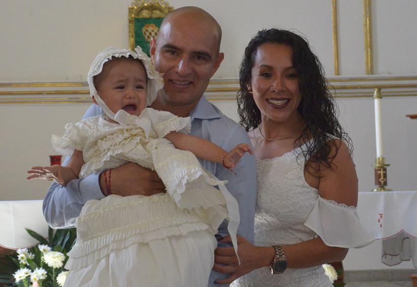 Valentina es bautizada