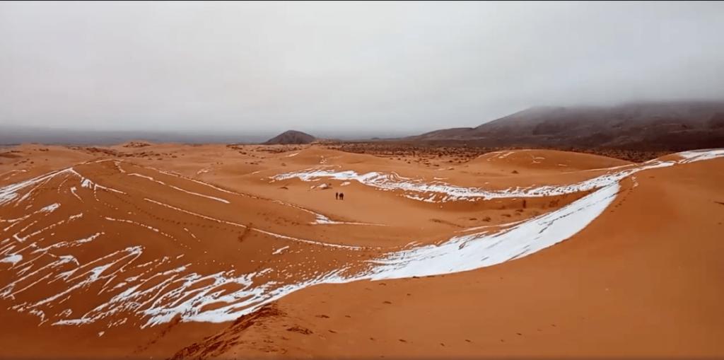 Insólita nevada en el desierto del Sahara; la segunda en 40 años | El Imparcial de Oaxaca