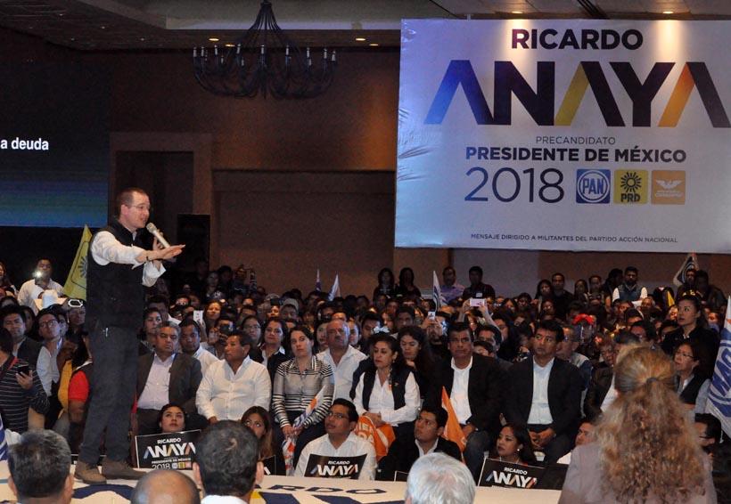 Desangelada, primera visita de Ricardo Anaya a Oaxaca