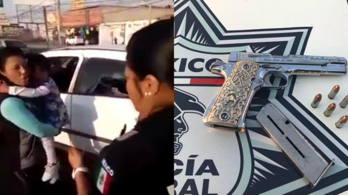 Video: Mujer usa a una niña para ocultar pistola | El Imparcial de Oaxaca