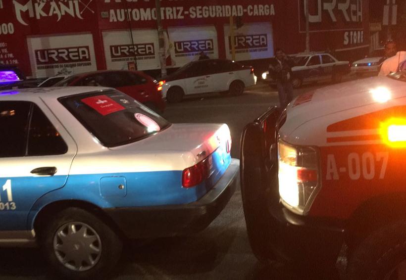 Aparatoso accidente en el crucero de Tlalixtac, Oaxaca