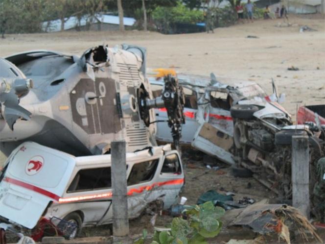 Sedena lamenta fallecimientos por desplome de helicóptero en Jamiltepec | El Imparcial de Oaxaca