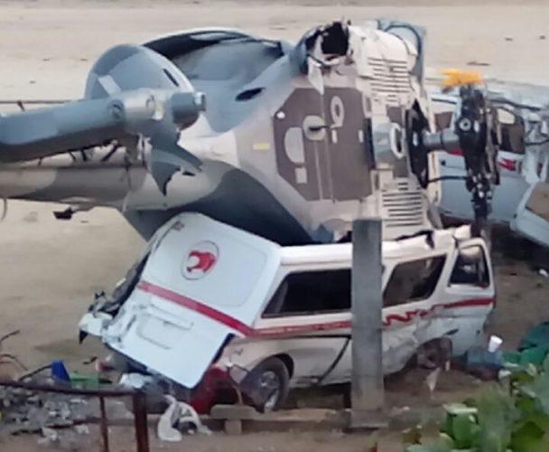 Al menos 14 muertos por desplome de helicóptero donde viajaban Murat y Navarrete en Jamiltepec, Oaxaca