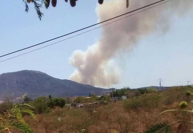 Alarma por incendio  en Ciudad Ixtepec, Oaxaca
