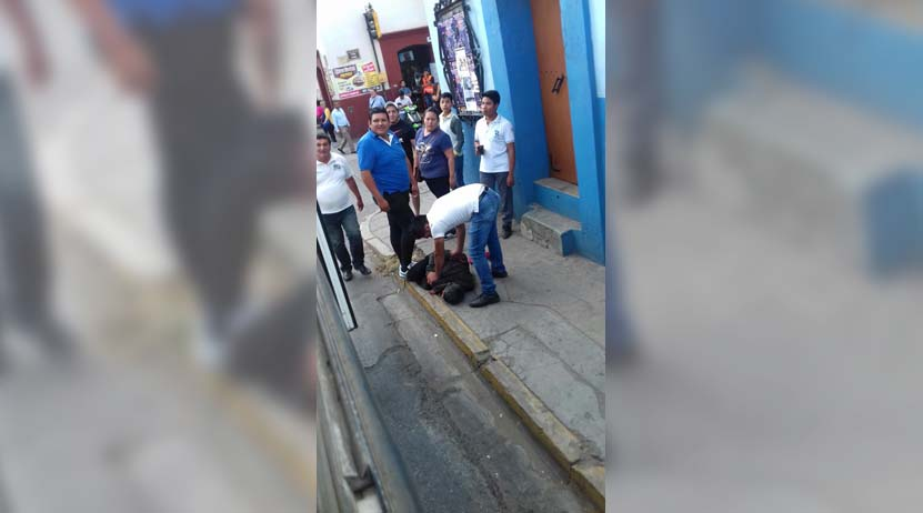 Falla en robo y casi lo linchan en el centro de Oaxaca | El Imparcial de Oaxaca