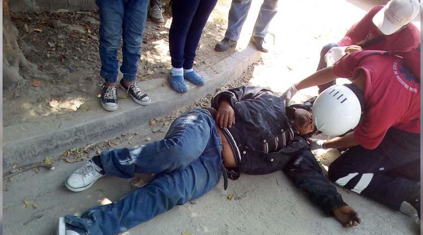 Lesionado tras derrape en la carretera a San Luis Beltrán, Oaxaca | El Imparcial de Oaxaca