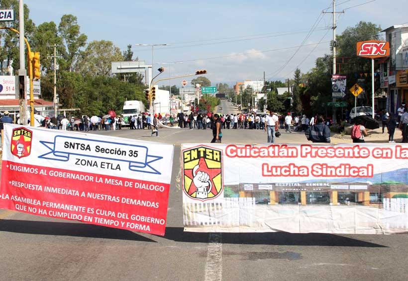Reinicia bloqueos carreteros en Oaxaca la Sección 35 | El Imparcial de Oaxaca