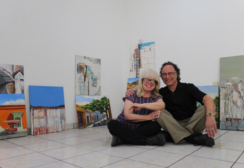 Tracy y Richard, las pinturas de una pareja