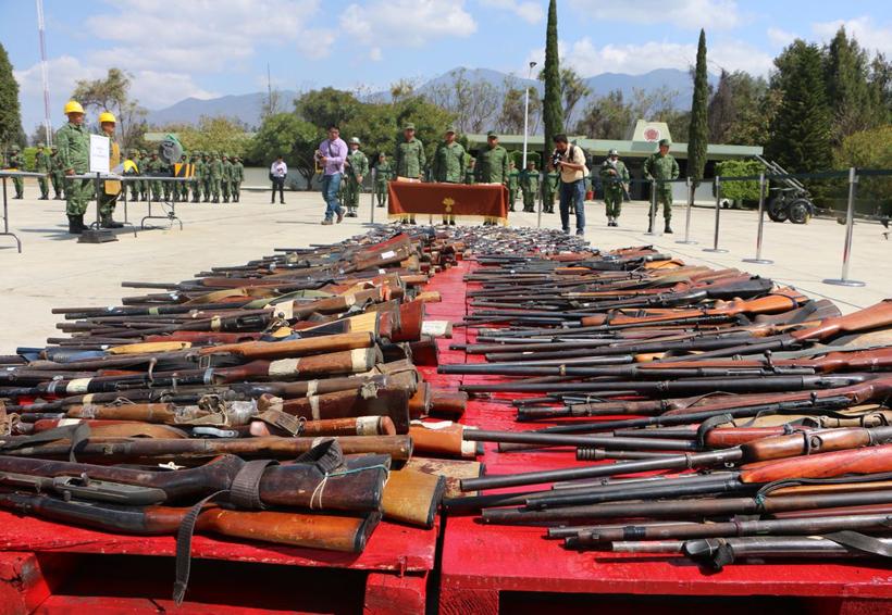 Seguridad Pública de Oaxaca asegura 1.4 armas al día | El Imparcial de Oaxaca