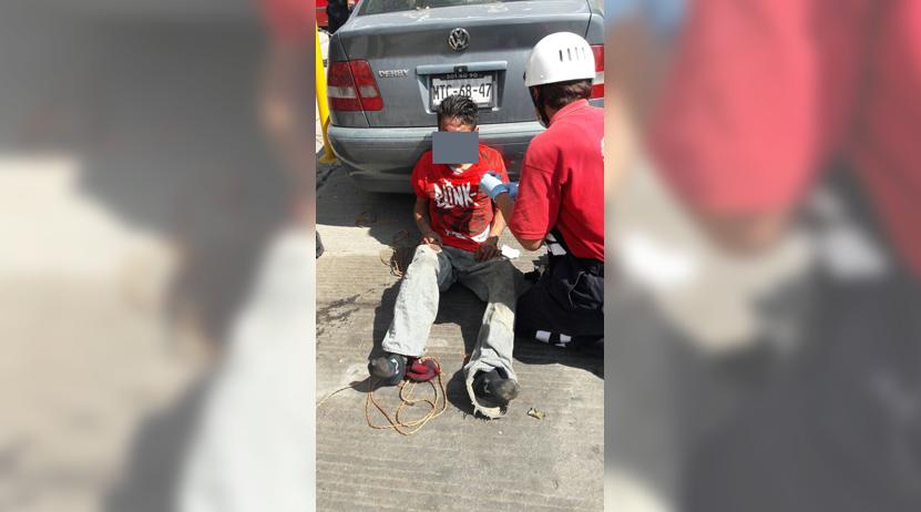 Sorprendido robando en fraccionamiento El Rosario, Oaxaca; termina amarrado y golpeado | El Imparcial de Oaxaca