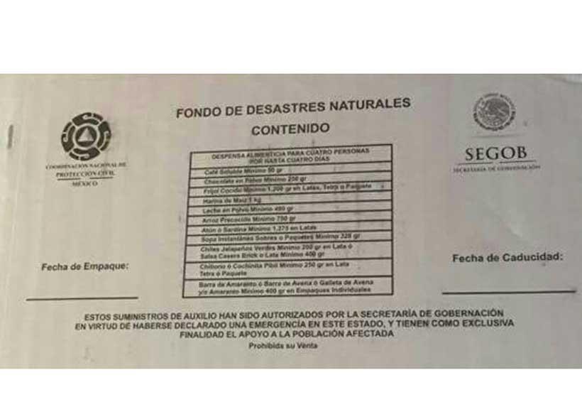 En Tuxtepec acusan que utilizan despensas del  Fonden para favorecer a planilla