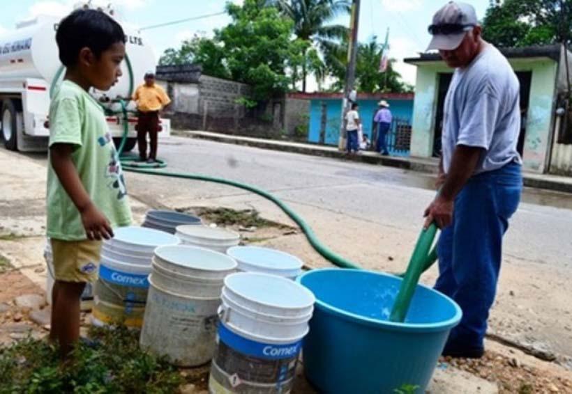 Inicia calvario por el  abasto de agua potable en Oaxaca