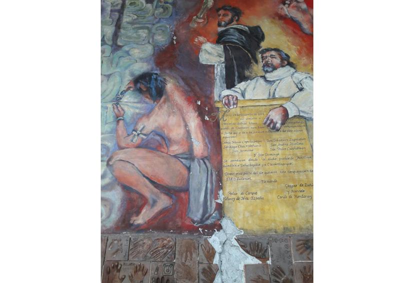 Inician diagnóstico  de murales dañados  en Oaxaca