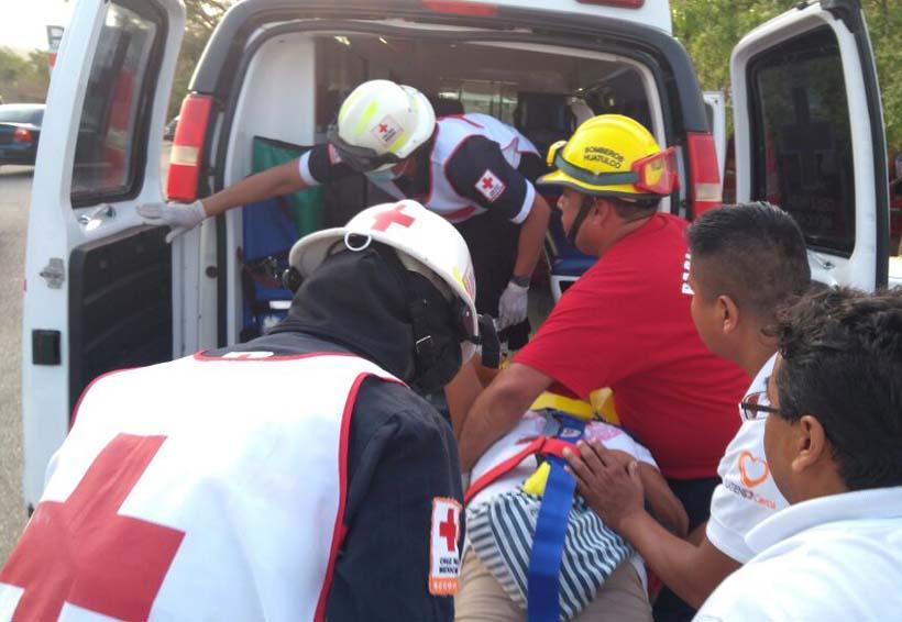 Remolque se desprende y deja dos lesionados en Huatulco
