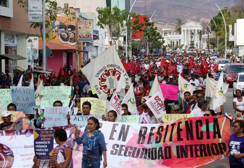 Marchan contra la evaluación en Oaxaca | El Imparcial de Oaxaca