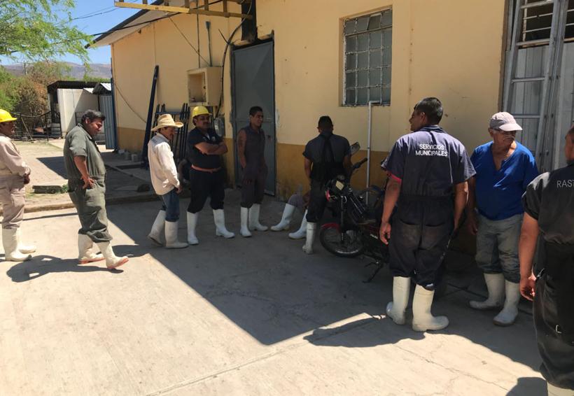 Paran labores en el  Rastro Municipal de Huajuapan de León, Oaxaca