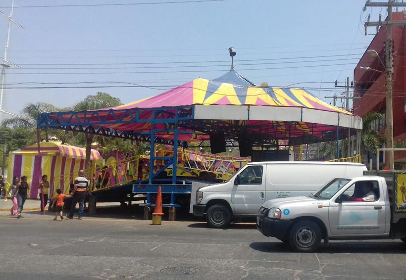 Piden verificar  juegos mecánicos en Salina Cruz, Oaxaca