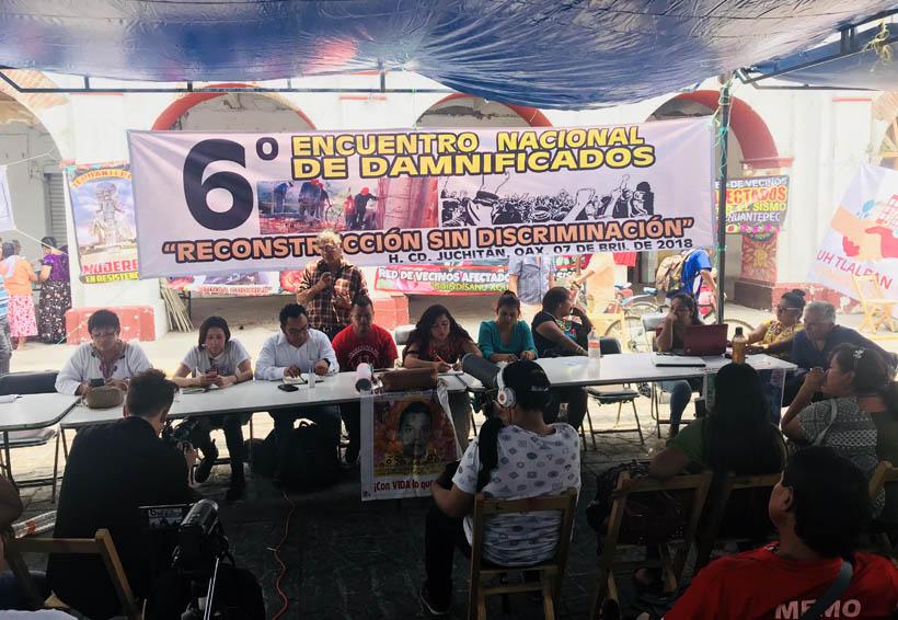Conforman el Frente  Nacional de Damnificados en el Istmo de Oaxaca