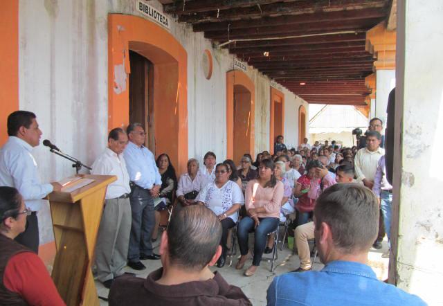 Inicia la restauración de Catedral y Casa de Cultura en Huautla de Jiménez Oaxaca