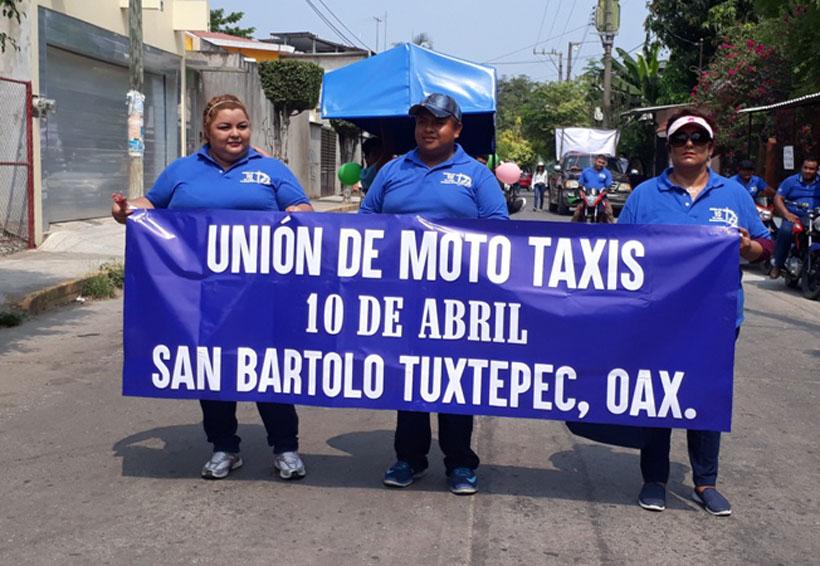 Taxistas nos han amenazado:  Mototaxis de San Bartolo Tuxtepec, Oaxaca